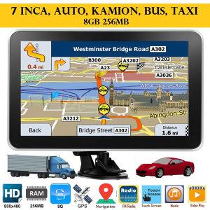 """Igo Navigacija novi model Gps 7"""" 256MB 8GB auto,kamion"""