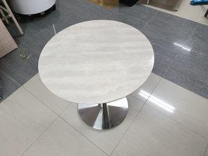 Kamena ploča za stol Ø60 bijela