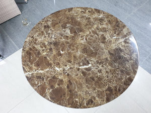 Kamena ploča za stol Ø70 smeđa