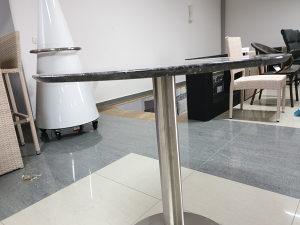 Kamena ploča za stol Ø70 crna