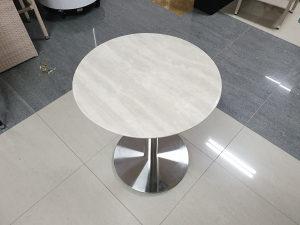 Kamena ploča za stol Ø70 bijela