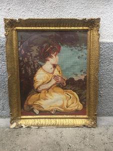 Vilerov goblen - Portret djevojčice (Ručni rad)