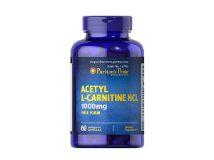 Puritans Pride Acetyl L-CARNITINE 1000mg 60 Kapsula HCL