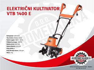 Villager električni kultivator VTB 1400E