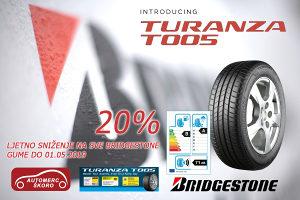 195/65 R15 Bridgestone T005. 20% popusta