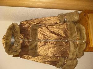 Bunda sa kapuljom za dame vel.L/XL zlatne boje