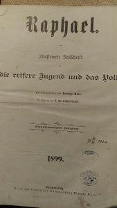 Raphael stara knjiga 1898 g