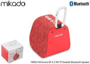 Mikado Bluetooth 4.1V Zvučnik FREELY K6 5W Crveni