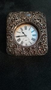 Zeljeznicki Antik dzepni sat sa srebrenom kutijom