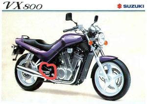 Suzuki vx800 metalni stitnici,vx 800 stitnik