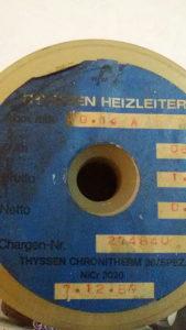 Cekas ( kantal ) okrugli debljina 0,1 mm