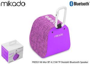 Mikado Bluetooth 4.1V Zvučnik FREELY K6 5W Ljubičasti
