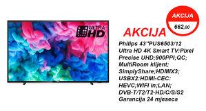 Philips 43''PUS6503 4K Smart