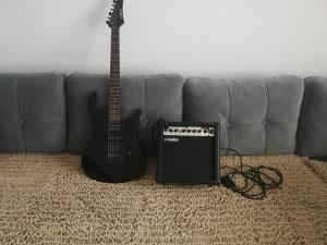 Elektricna gitara Yamaha i pojacalo zvucnik