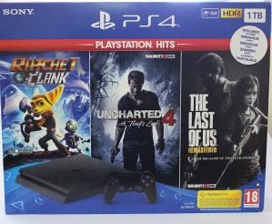 PS4 1 TB +  3 IGRICE !!!
