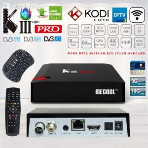 Mecool Kiii Pro 4K UHD TV Box  DVB-T/T2 DVB-C DVB-S/S2