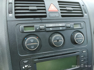 Vw Touran display klime