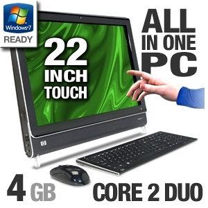 "TouchScreen All in One 22"" T6400 / 4gb / 500gb /6mj.gar"