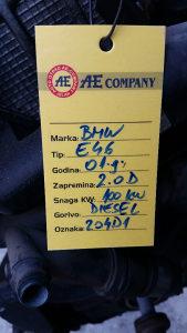 Motor BMW E46 2.0 D 100 kW AE 139