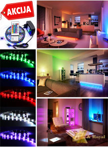 RGB Komplet LED traka sa daljinskim (URADI SAM)