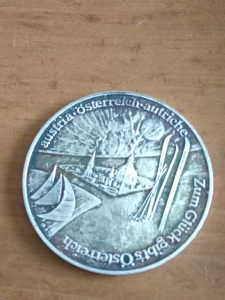 Srebrena medalja Austrija 35 mm