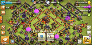 Clash of clans acc th 10 max