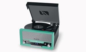 8110900 Gramofon sa CD, radio, USB, zeleni