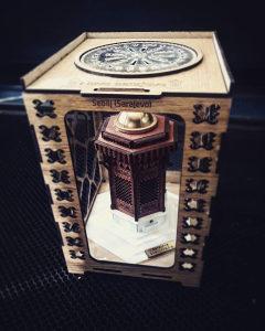 Drveni 3D sebilj u kutiji