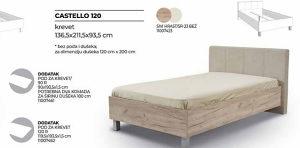 Krevet samac CASTELLO 120