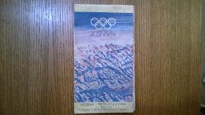 Olimpijska karta BiH - Sarajevo 84