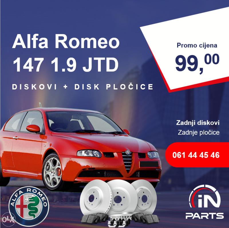 Zadnji Diskovi I Disk Pločice Alfa Romeo 147