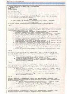 Prodaja u stecaju Rudstroj d.d. Kakanj