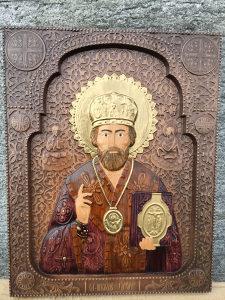 Ikona Sveti nikola duborez