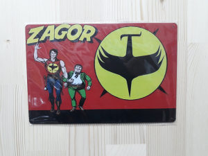 Zagor / METALNA RETRO TABLICA