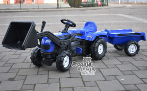 Traktor na pedale sa prikolicom i kasikom/DOLU NOVO