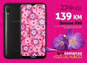 Doogee X90 | 1gb+16gb | 8 mpx (+5) + 5 mpx | 3400 mAh