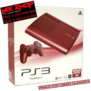 Playstation 3 SUPER SLIM 250GB RED *KAO NOV* PS3 250 GB