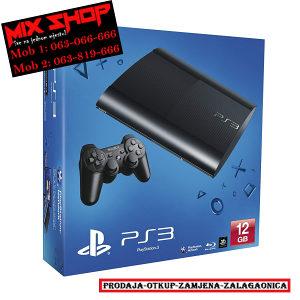 Playstation 3 SUPER SLIM 12GB CRNI *KAO NOV* PS3 12 GB