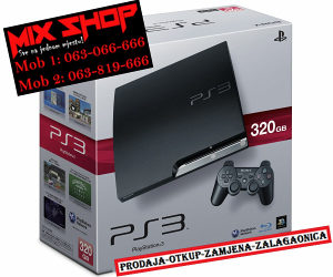 Sony Playstation 3 SLIM 320GB CRNI *KAO NOV* PS3 320 GB