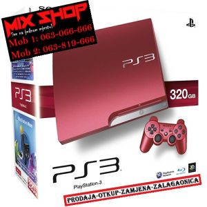 Sony Playstation 3 SLIM 320GB CRVENI*KAO NOV*PS3 320 GB