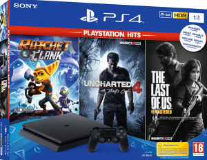 PS4 1TB Slim F chassis   3 games