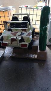 Klackalica na kovani novac džip sa kaktusom