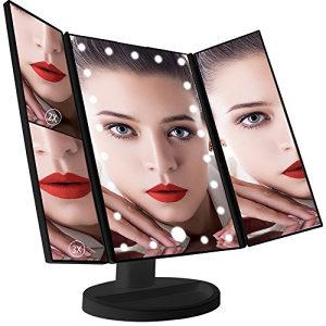 Rasklopivo ogledalo za šminkanje, LED, povećanje