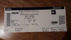 Karta za koncert Erica Claptona