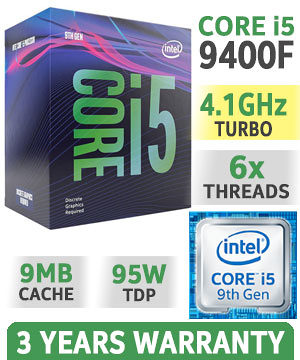 CPU LGA1151 v2 Intel i5 9400F 6x2.9-4.1GHz