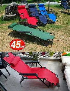 Stolica lezaljka, sklopiva lezaljka, kamp stolica