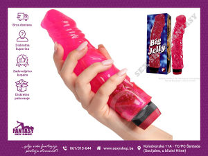 "Vibrator ""Big Jelly"" 21cm x 4.5cm 