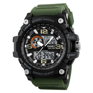 Taktički Multifunkcijski sat Skmei S-Shock Army Green