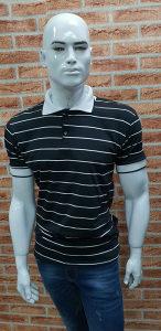 Muška majica kratkih rukava crno- bijele pruge