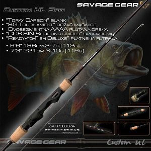 Varaličarski štap Twich Savage Gear Custom UL 198cm 2-7
